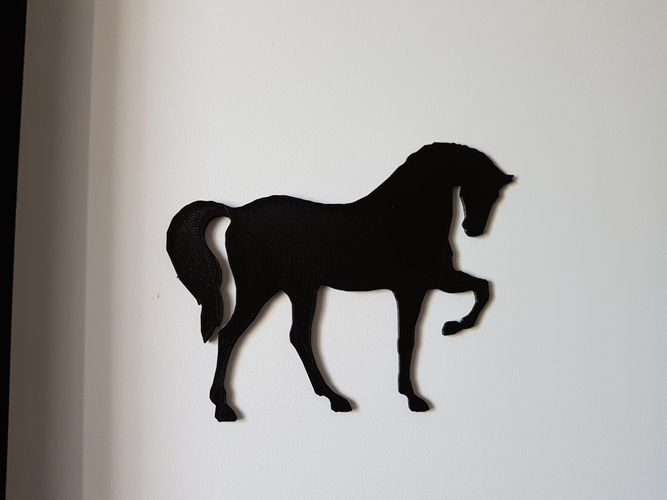 shadow of a horse and a dog 3D Print 198053