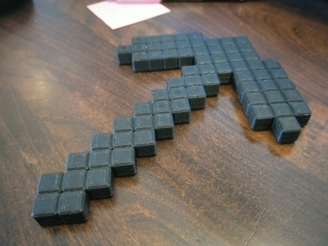 3D Printed minecraft pickaxe by DRC | Pinshape