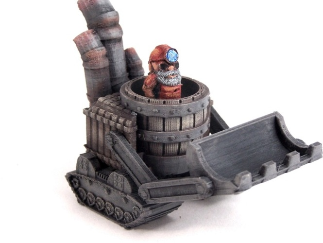 Gnomedozer, Snap-fit Model 3D Print 1983