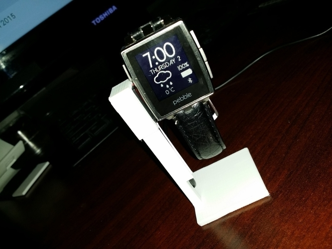 Simple Pebble Steel Holder 3D Print 198304