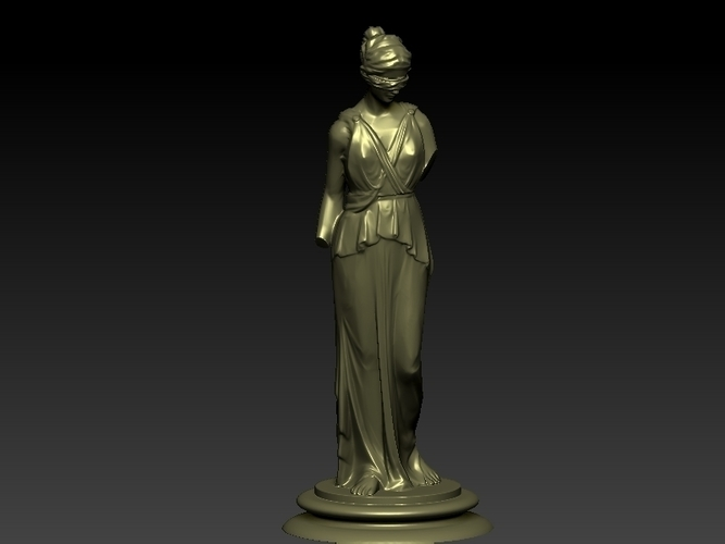 Lady Justice Themis 3D Print 198370