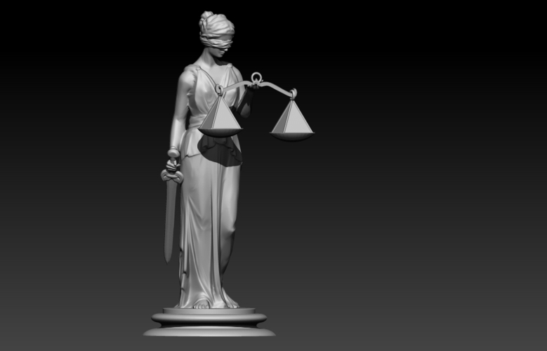 Lady Justice Themis 3D Print 198371