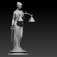 Small Lady Justice Themis 3D Printing 198371
