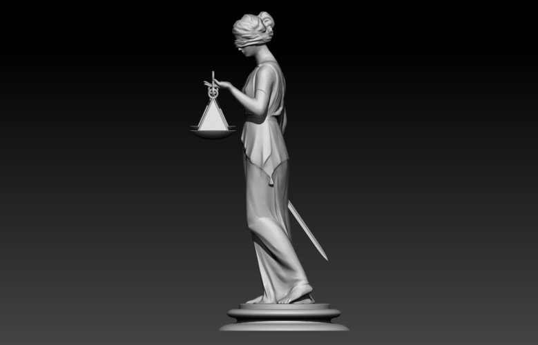 Lady Justice Themis 3D Print 198372