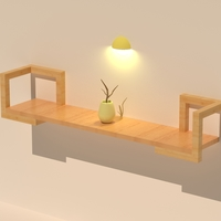 Small Wall decor desk 3D Printing 198438