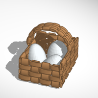 Small Easter Basket 3D Printing 198552