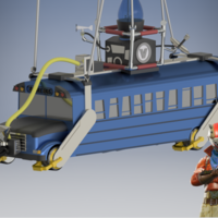 Small Battle Bus - Fortnite 3D Printing 198609