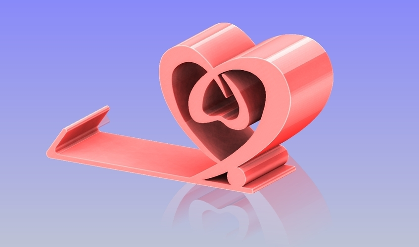 Heart Shape phone holder 2 3D Print 198646