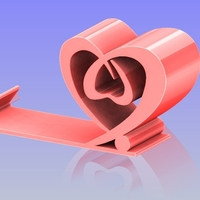 Small Heart Shape phone holder 2 3D Printing 198646