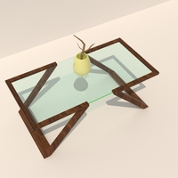 Small Wood and Glass Table 3D Printing 198682