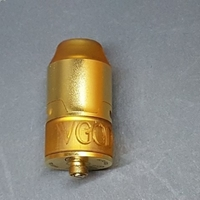 Small V GOD  atomizer tank+tsank with logo+top+inside mufer(4 files) 3D Printing 198702