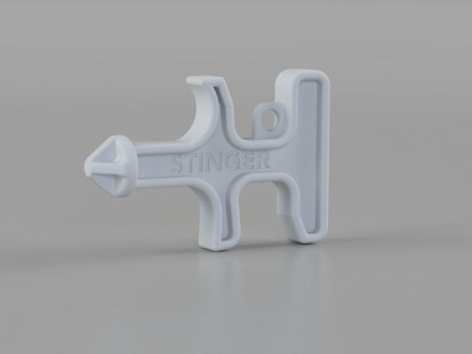 Stinger Keychain Self-Defense Tool 3D Print 198731