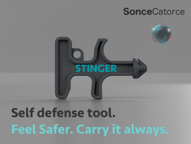 Stinger Keychain Self-Defense Tool 3D Print 198732