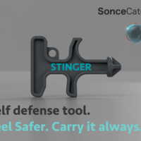 Small Stinger Keychain Self-Defense Tool 3D Printing 198732