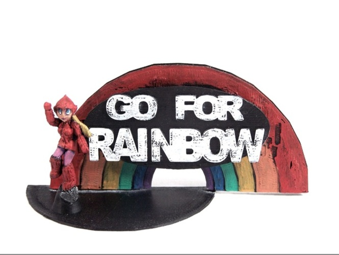 Go For Rainbow 3D Print 1988
