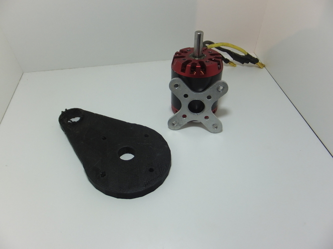 Electric Skateboard Motor Mount 3D Print 198813