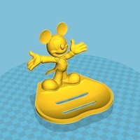 Small Mickey soap dish 3D Printing 198858