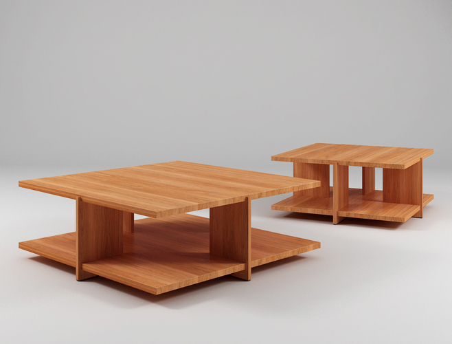 Tables with Wood Like Color 3D Print 198873