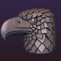 Small Eagle head stylized 3D Printing 198913