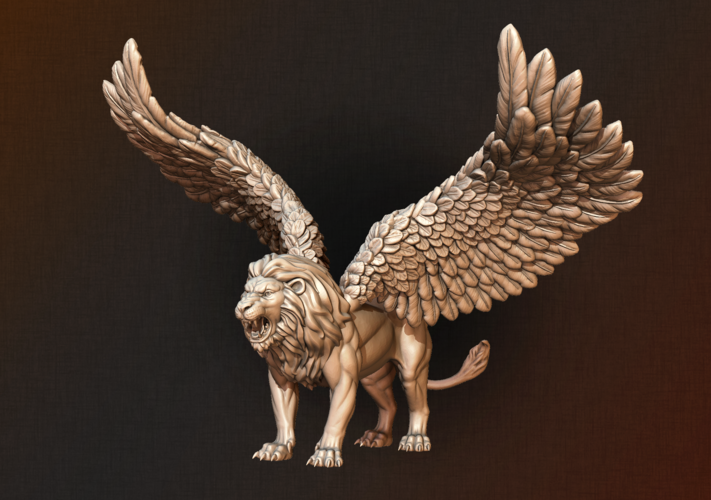 Winged Lion 3D Print 198924