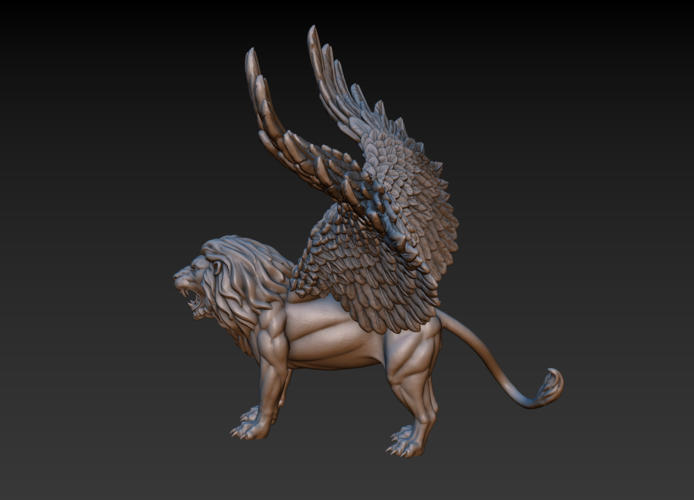 Winged Lion 3D Print 198927