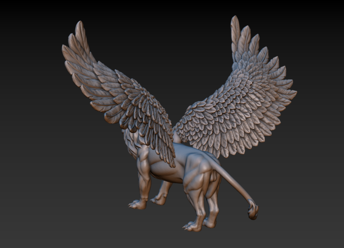 Winged Lion 3D Print 198928