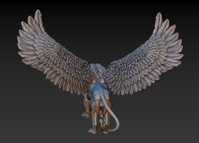 Winged Lion 3D Print 198929