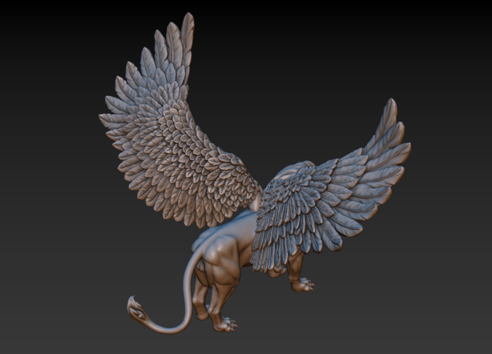 Winged Lion 3D Print 198930