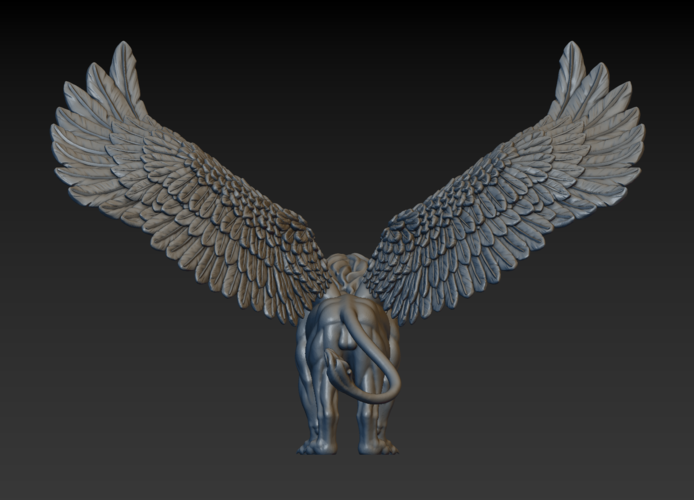 Winged Lion 3D Print 198935