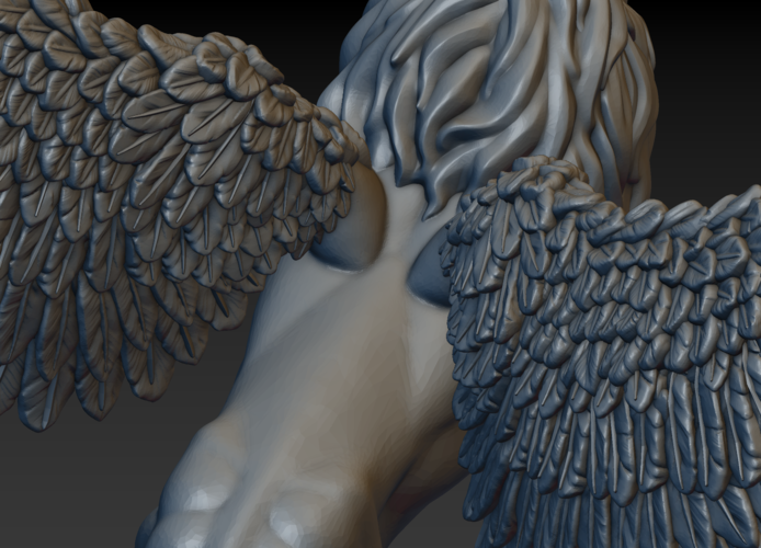 Winged Lion 3D Print 198939