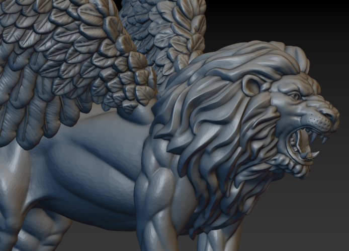 Winged Lion 3D Print 198940