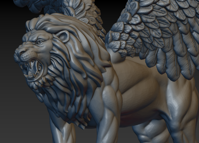 Winged Lion 3D Print 198942
