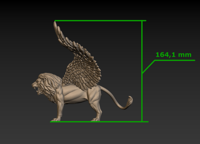 Winged Lion 3D Print 198947