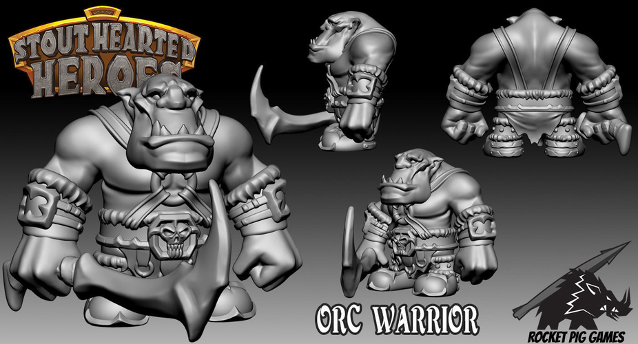 Rocket Pig Games Orc Warrior 3D Print 199281