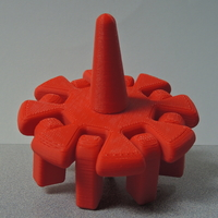 Small Spinning Top with Articulated Arms 3D Printing 199306