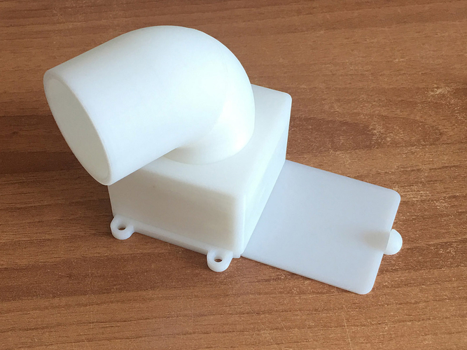 Rotatable fumes extractor for 40 mm tube 3D Print 199321
