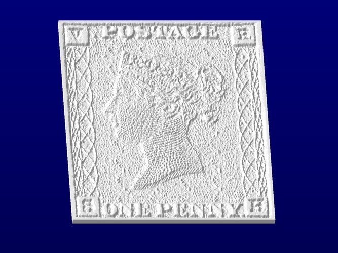 Penny Black Stamp Coaster 3D Print 19945