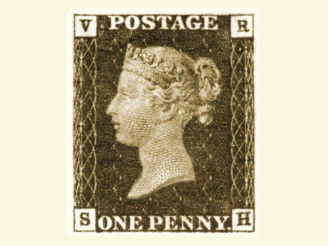 Penny Black Stamp Coaster 3D Print 19946