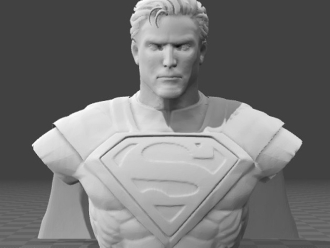 Superman Bust 3D Print 199518