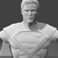 Small Superman Bust 3D Printing 199518