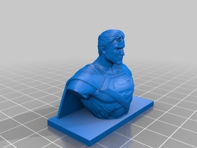 Superman Bust 3D Print 199519