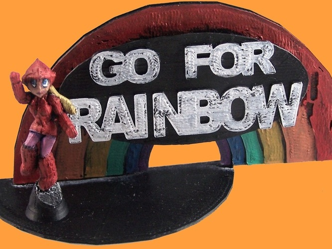 Go For Rainbow 3D Print 1996