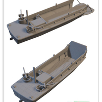 Small US landingcraft -stl file- 3D print model 3D print model 3D Printing 199637