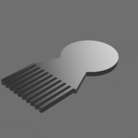 Small simple comb 3D Printing 200023