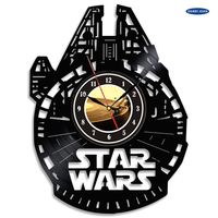 Small Star wars Millennium Falcon Clock  3D Printing 200075