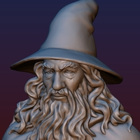 Small Gandalf Bust 3D Printing 200076
