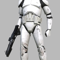 Small Star Wars Clone Trooper Phase 2 Full Armor 3D print model 3D Printing 200098