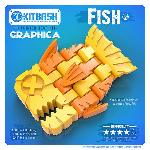 Graphica: Fish - 3DKitbash.com - Print & Play 3D Print 20013