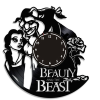 Small Beauty and the Beast Clock 3D Printing 200180