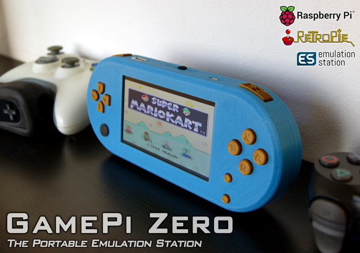GamePi Zero - The Portable Emulation Console 3D Print 200200
